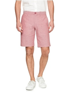 Aiden-Fit Linen Blend Santa Fe Red Short
