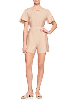 Tailored Keyhole Romper