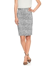 Print Sateen Pencil Skirt