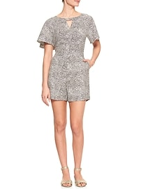Print Tailored Keyhole Romper