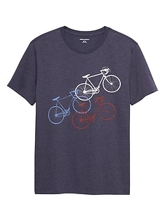 Diagonal Bikes Graphic T Shirt