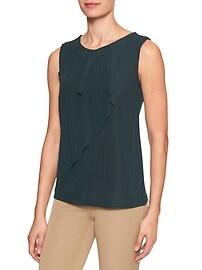 Pleat Ruffle Top Tank
