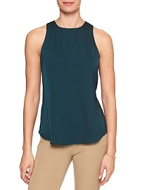 Pleat Shoulder Tank