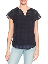 Jacquard Dolman Sleeve Top