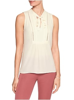 Tie-Neck Bib Top