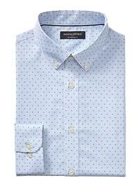 Slim-Fit Non-Iron Print Shirt