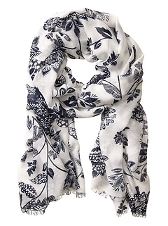 Spotted Floral Scarf