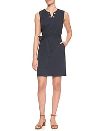 Grommet Trim Dress