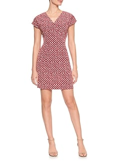 Print Tailored Wrap Dress