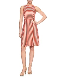 Stripe Tank Fit and Flare Dress