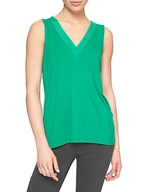 Sleeveless Pintuck Top