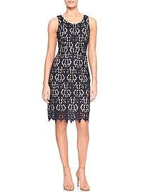 Luxe Lace Sheath Dress
