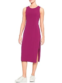 Split Knit Midi Dress