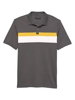 Chest Stripe Dress Polo