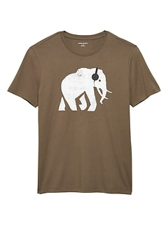 Elephant Headphones Graphic T Shirt