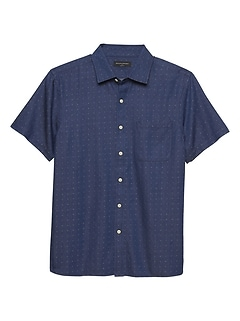 Slim-Fit Diamond Dobby Shirt