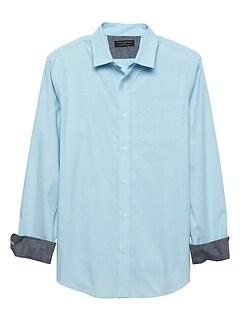 Slim-Fit Soft Wash Stretch Yarn Dye Shirt