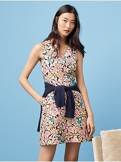 Jacquard Floral Fit and Flare Dress