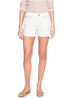 StayClean Stain Resistant White Denim Short