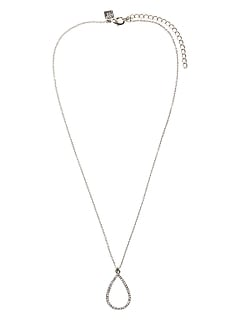 Teardrop Pave Pendant Necklace