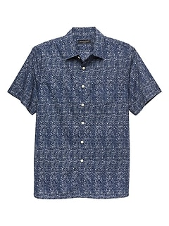 Slim-Fit Tribal Print Shirt