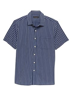 Slim-Fit Dobby Stripe Shirt