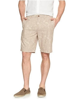 Aiden Slim-Fit Leaf Khaki Short
