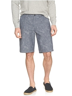 Emerson-Fit Palm Chambray Short