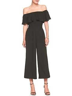 Off-Shoulder Culotte Jumper