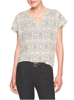 Print Dolman Sleeve Top