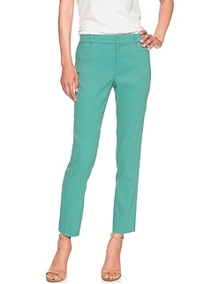 Sloan Stretch Diamond Jacquard Slim Ankle Pant