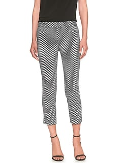 Sloan Stretch Diamond Jacquard Crop Pant