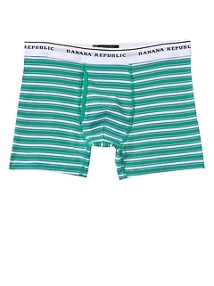 Green Stripe Boxer Brief