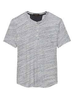 Moisture Wicking Spacedye Henley T Shirt