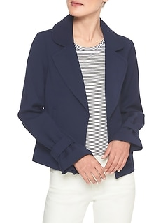 Lightweight Crepe Cinched Cuff Jacket