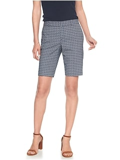 Tailored Abstract Geo Jacquard Bermuda Short
