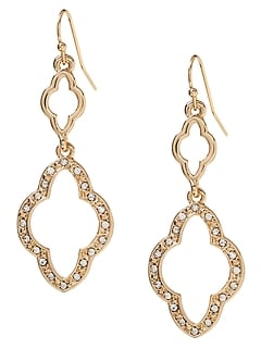 Pave Filigree Earring