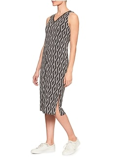 Cut Out Vee-Back Midi Dress