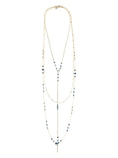 Delicate Y Bead Necklace