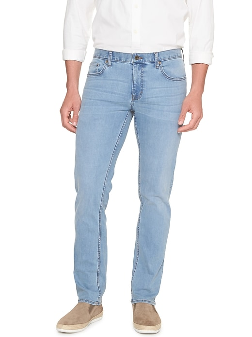 Techmotion Slim Fit Stretch Light Wash Jean by Banana Republic Factory