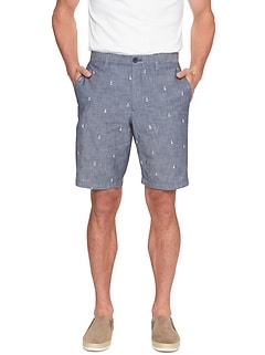 Aiden-Fit Chambray Short
