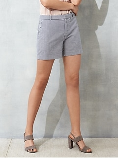 Tailored Seersucker Short