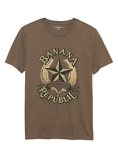 Banana Vintage Logo Graphic T Shirt