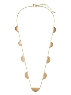 Brushed Gold Station Necklace