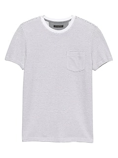 Textured Crew Neck T Shirt