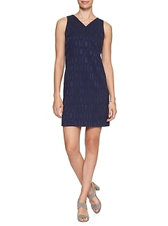 Diamond Jacquard Shift Dress