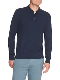 Premium Luxe Polo Sweater