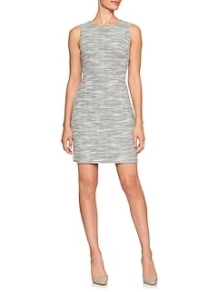 Tweed Jacquard Sheath Dress