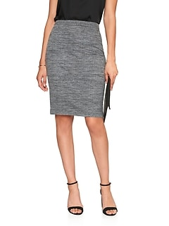 Stretch Tweed Pencil Skirt