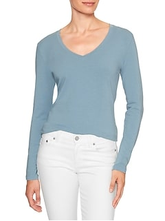 Timeless Long Sleeve V-Neck T Shirt